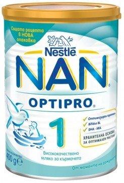 Nestle NAN Бебешко адаптирано мляко  1  Optipro  BL /до 6 месеца/ 400 гр.